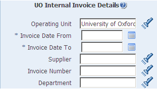 internal invoice details report