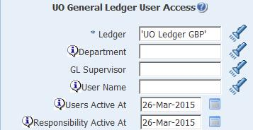 uo general ledger user access parameters
