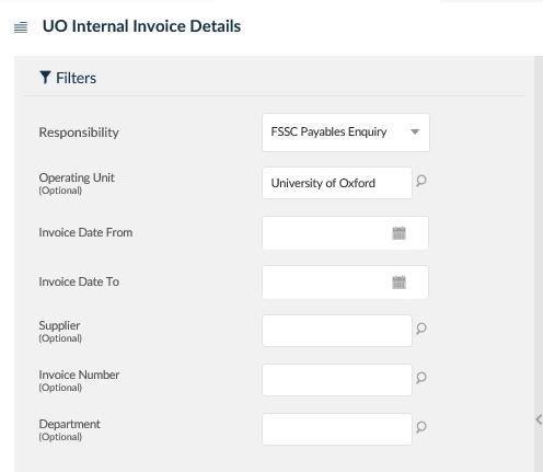 uo internal invoice details