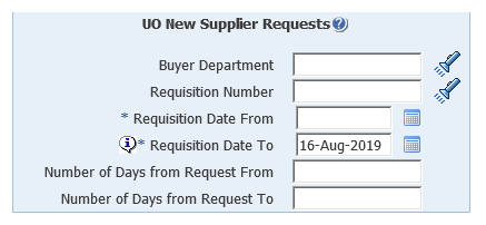 uo new supplier requests