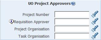 uo project approvers parameters