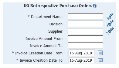 uo retrospective purchase orders