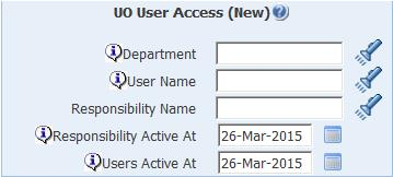 uo user access new parameters