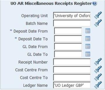 uo ar miscellaneous receipts register